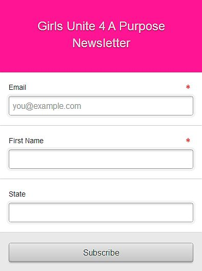 Girls Unite 4 A Purpose| Get The Latest & Signup for Our Newsletter Today!